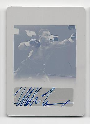 Mike Tyson 2012 Leaf Legends of Sport Magenta Printing Plate Auto 1/1