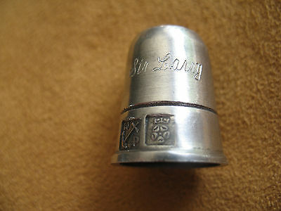 Rare Woodsetton Peep Thimble Stanhope Sir Laurence Olivier 'Sir Larry' Pewter