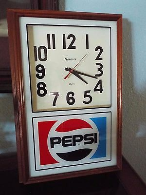 1991 Hanover Pepsi Retail Store Wall Clock Battery Operated FREE SHIPPING!