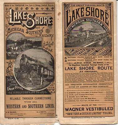 Lake Shore & Michigan Southern RY LS&MSRY Public Timetable November 1888