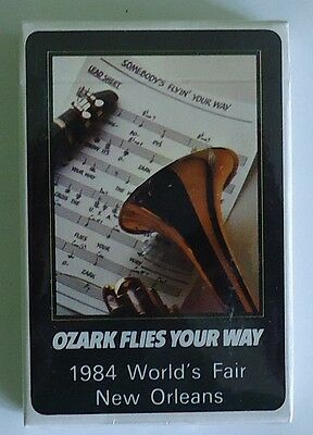 Ozark Airlines Deck of Playing Cards - Mint Sealed - 1984 World's Fair