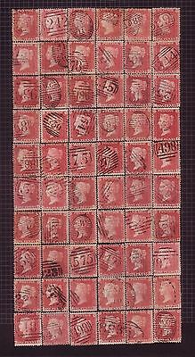 1858-64 Penny Red Stars - PLATE RECONSTRUCTION - 240 STAMPS RARE POSTMARKS