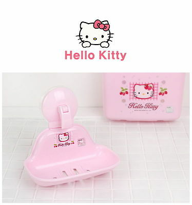 [Hello Kitty] Wall Suction Soap Holder For Kids Safe & Durable N_o