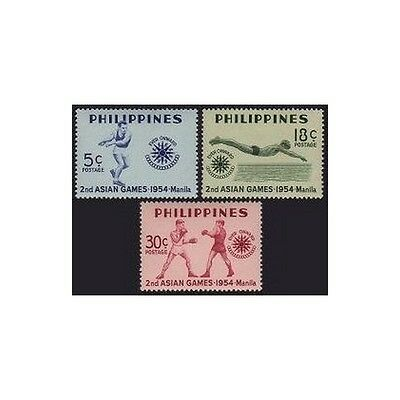 Philippines 610-612,MNH. Asian Games 1954.Boxing,Disc,Swimming,Basketball.