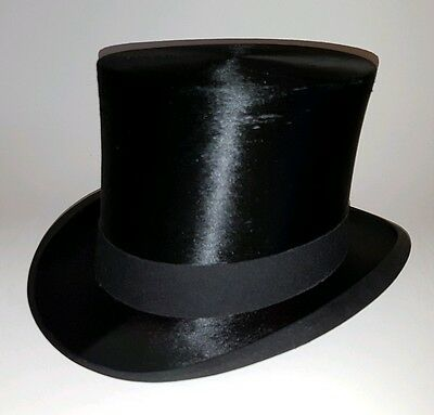 Silk Top Hat by Victor Jay & Co- 57.5cm (Size 7 1/16)
