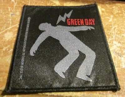 Green Day Patch  Collectable Vintage Woven  English Picture