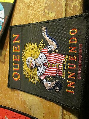 Queen  Patch  Collectable Vintage Woven  English Picture