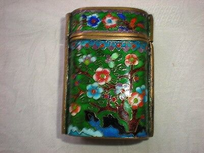 Wonderful Vintage Cloisonne INRO Box with Floral Pattern (no cord)