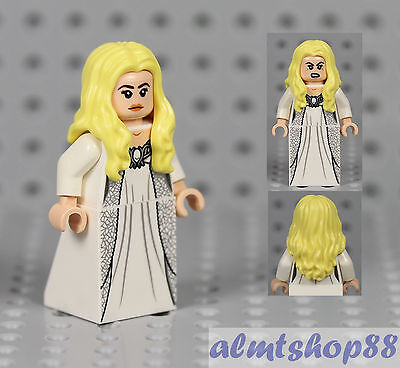 *NEW* Lego 1 Minifig PRINCESS Female Girl LONG DARK BROWN HAIR White Torso Skirt