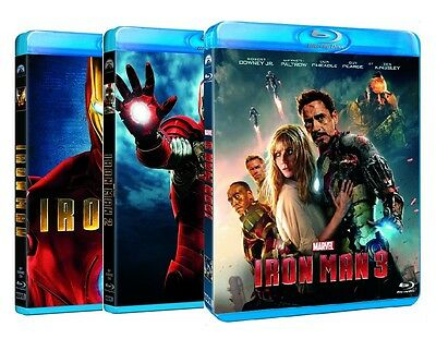 IRON MAN - COLLEZIONE COMPLETA (3 BLU-RAY) Robert Downey Jr., Jeff Bridges