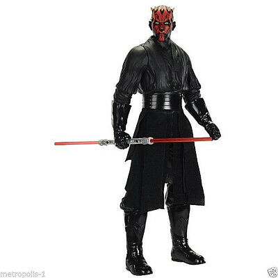 "Jakks Pacific,star Wars,big 18"" Darth Maul Action Figure,w/ Light Saber,3+,new"