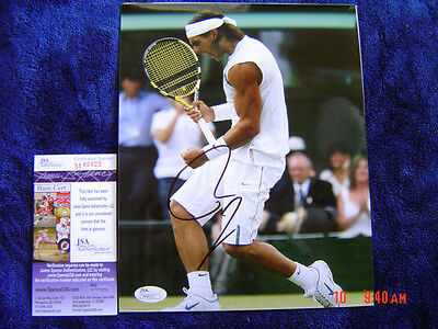 Spain RAFAEL NADAL SIGNED AUTOGRAPHED 8x10 Photo Exact PROOF JSA M46923