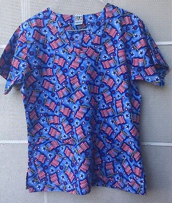 Scrubs UA SCRUBS Flag Patriotic print size Medium