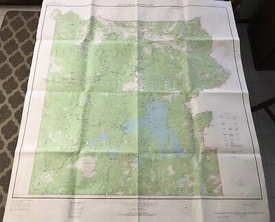 Yellowstone National Park Map-Wyoming-Montana-Idaho, US Geological Survey, 1961