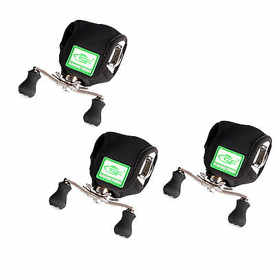 3 PCS SF Baitcaster Baitasting Reel Cover Pouch Case Glove Protective UP to 300