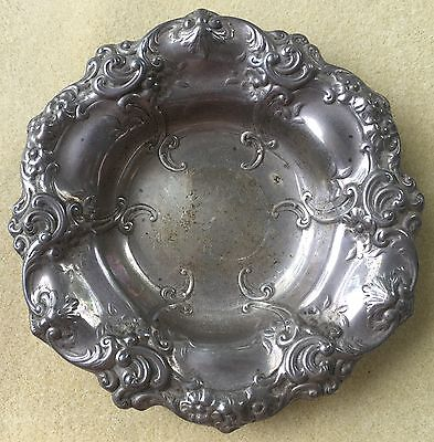Vintage Gorham Sterling Silver Nut Dish 816 Repousse 925