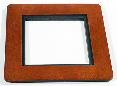 1 ADAPTER 6x6RC to use 4x4SC boards in DEARDORFF 8x10 of Mahogany, without metal