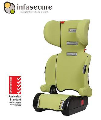 Infa Secure Versatile Folding Booster Car Seat 4-8 years Kid Child Infant Green