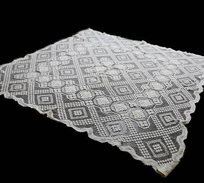 Vintage cream pretty intricate lace tablecloth measuring 126cm square