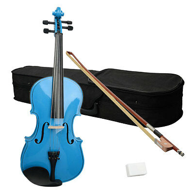 New High Quality Basswood 15 Inch Viola + Case + Bow + Rosin Blue Color