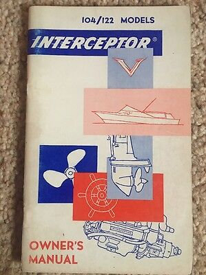 Interceptor Owners Manual, Marine Engines 104/122 Models