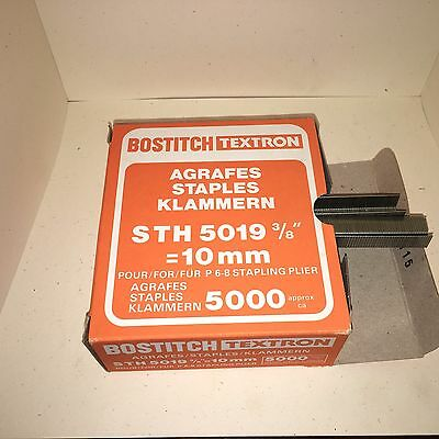 """Bostitch Textron STH 5019 - 3/8"""" Galvanized Staples - Box of 5000 Made in France"""