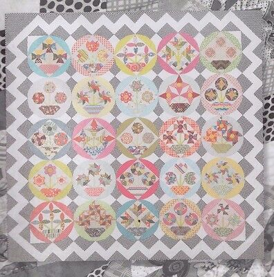Bring Me Flowers - pieced & applique quilt PATTERN - Jen Kingwell