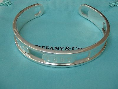 Tiffany & Co. Sterling Silver 1837 element collection  Cuff Bracelet small size