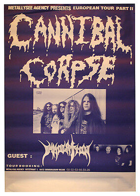CANNIBAL CORPSE - IMMOLATION 1996 - Original Concert Poster - 60 x 80