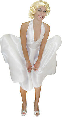 Costume deguisement star hollywoodienne Marylin Monroe taille M robe blanche 919