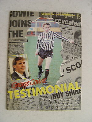 Dunfermline v Hearts 1988 George Cowie