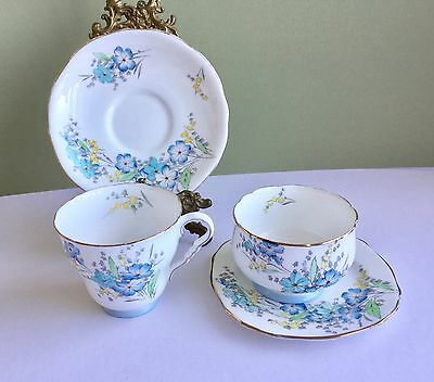 Vintage Cup Saucer & Sugar Bowl With Stand  Royal Stafford 1952 Bone China