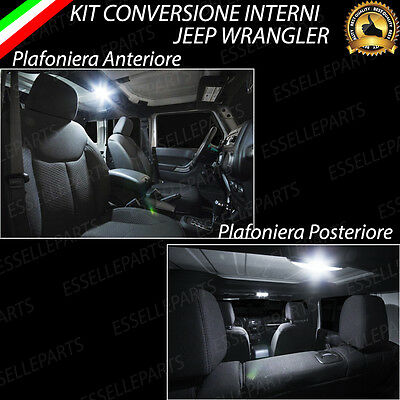 Kit Led Interni Jeep Wrangler Conversione Interna A Led Completa Canbus 6000K