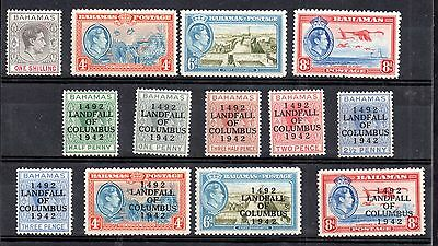 Bahamas KGVI mint LHM collection to 1/- (13V) WS4759