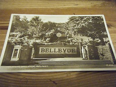 Early Valentines  Rp  Card - The  Steps, Belle Vue - Belfast  R502  Franked Vgc