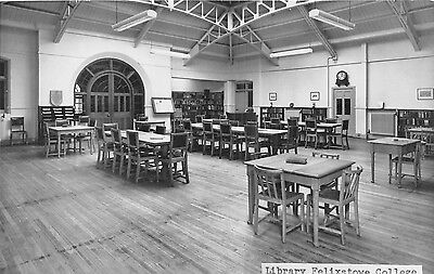 POSTCARD  SUFFOLK   FELIXSTOWE   COLLEGE  The  Library     RP