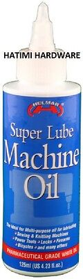 Helmar Super Lube Machine Oil 125ml For Domestic Industrial Lubricant Machines