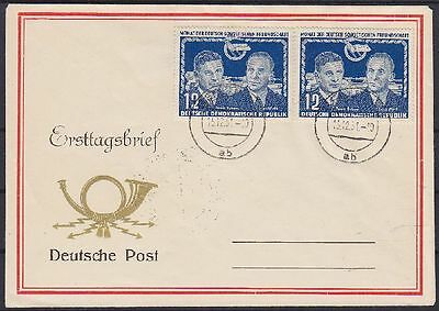DDR FDC 296 2x mit Tagesstempel Berlin 15.12.1951, frist day cover