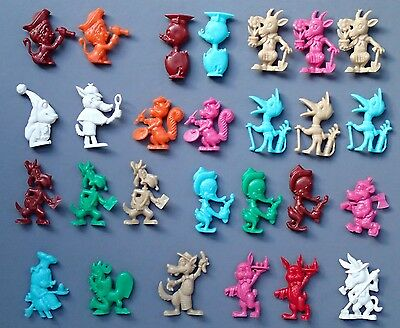 Cereal Toys x 27 R&L Society Zoo Thingamajigs Cereal Toys 1970's