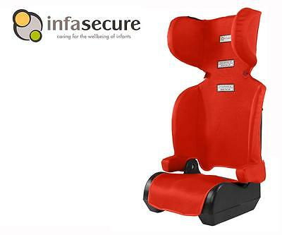InfaSecure New Versatile Folding Booster Car Seat 4-8 years Kid Child Infant Red