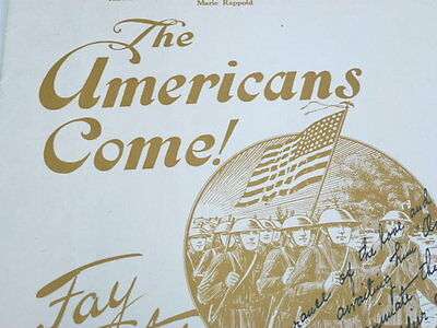 U.S. WWI, sheet music, Patriotic cover