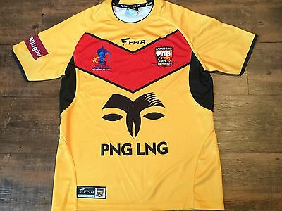 2013 Papua New Guinea Rugby League World Cup Shirt Adults Small PNG Jersey