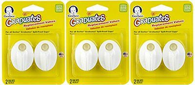 6 NUK Replacement Valves Gerber Graduate Spill Proof Sippy Cups PING