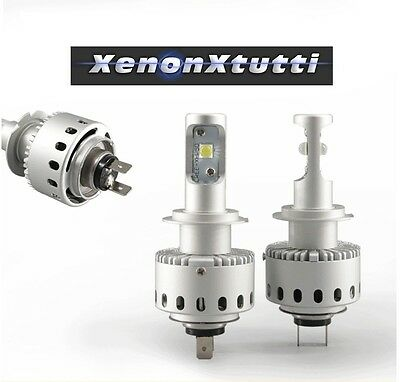 Kit Led H7 6000K Full Canbus Xenon 12000 Lm Auto Moto Lampade All In One Slim