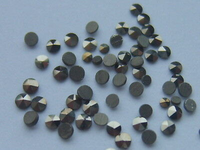 10 LOOSE ROUND MARCASITE STONE CRAFT JEWELLERY REPAIR LOT 1mm to 1.5mm to 2mm