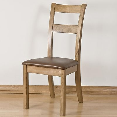 French solid oak furniture set of four dining chairs