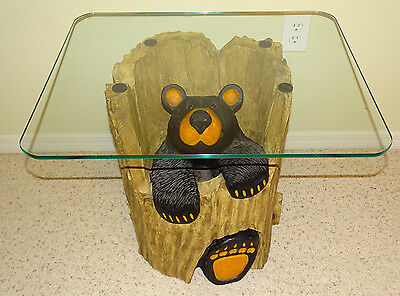 RARE and Vintage Big Sky Carvers Ruthie Bear Table Log Cabin LOCAL PICKUP ONLY