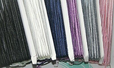 3mm x 5m flat braided nylon cord rope string DIY silicone necklaces jewellery