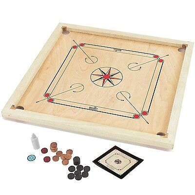 Garden Games Carrom Board Set 85 x 85cm Beautifully hand finished with solid ...