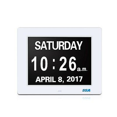 Digital Calendar Day Clock with Large Clear Time Day and Date display Wall ha...